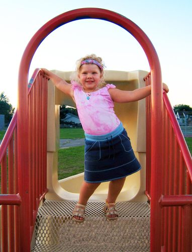 Lydia on the slide WEB